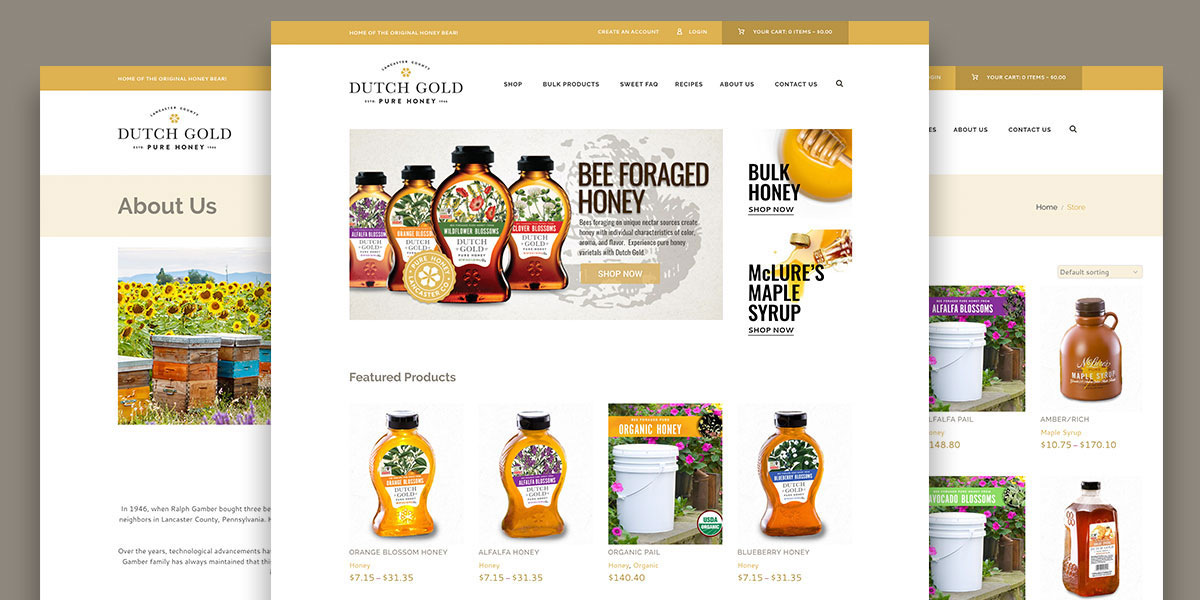 Dutch Gold – Website Redesign